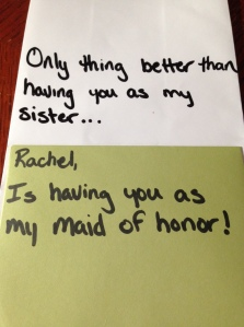 Maid of Honor ask