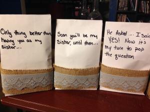 Bridesmaid Ask Bags